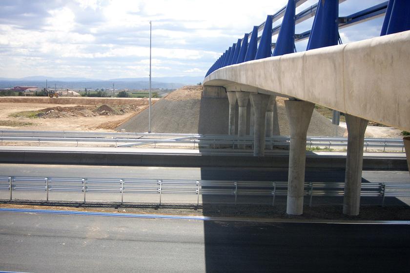 Puente sobre CV-35 acceso PI Carrases-Llíria