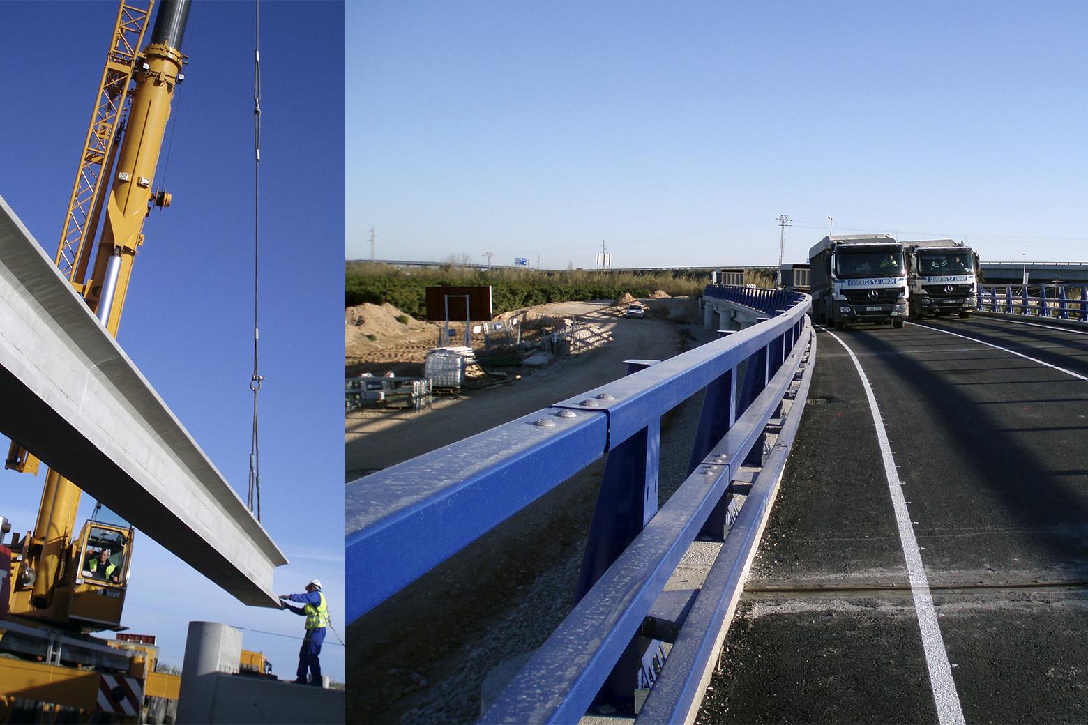 Prolongación del puente de Riola-València